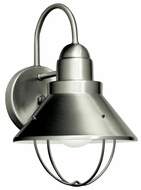 Kichler 11098NI Seaside Medium Nickel Finish Nautical Outdoor Light Sconce