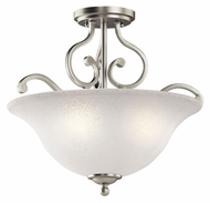 Kichler 43232NI Camerena Traditional Brushed Nickel Semi Flush Mount Lighting