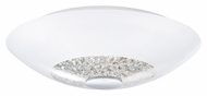 EGLO 92711A Ellera 12 Inch Diameter Chrome 2 Lamp Overhead Lighting Fixture - Small