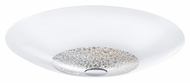 EGLO 92713A Ellera Chrome 21 Inch Diameter Modern Ceiling Light - Large