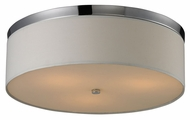 ELK 11445/3 Flushmounts Round Polished Chrome Modern Ceiling Light Fixture