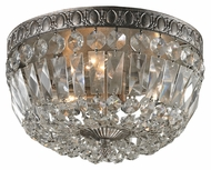 ELK 11480/3 Flushmounts Sunset Silver 12 Inch Diameter Crystal Ceiling Light