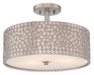 Quoizel CKCF1717OS Confetti Contemporary 17 Inch Diameter Old Silver Finish Ceiling Lamp