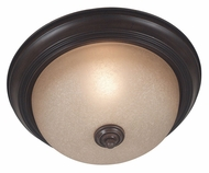 Kenroy Home 80365COCO Triomphe Transitional Cocoa Finish Flush Mount Small Ceiling Light