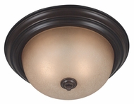 Kenroy Home 80367COCO Triomphe Flush Mount Cocoa Finish Fluorescent Ceiling Light