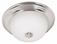 Kenroy Home 80369BS Triomphe 15 Inch Diameter Brushed Steel Ceiling Light - Fluorescent