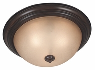 Kenroy Home 80369COCO Triomphe Transitional Cocoa Finish Flush Mount Ceiling Light - Fluorescent