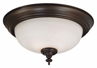 Kenroy Home 91394BBZ Wynwood 2 Lamp 13 Inch Diameter Burnished Bronze Flush Lighting