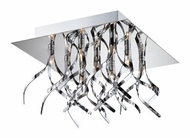 Lite Source LS5735 Ferill 11 Inch Diameter 9 Lamp Chrome Finish Ceiling Light