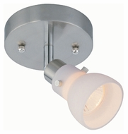 Lite Source LS17091PS/FRO Polished Steel Finish 4 Inch Tall Frosted Glass Shade Ceiling Lamp