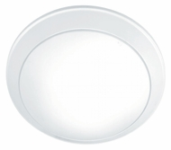 Lite Source LS5312WHT Glow Pan White 11 Inch Diameter Ceiling Flush Mount Lighting