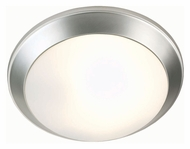 Lite Source LS5315SS Glow Pan Transitional Satin Steel Finish 14 Inch Diameter Overhead Lighting
