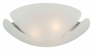 Lite Source LS5422PS/FRO Devona Frost Glass 16 Inch Diameter Modern Ceiling Light - Polished Steel