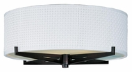 ET2 E95400-100OI Elements Round Fluorescent Oil Rubbed Bronze White Weave Overhead Lighting