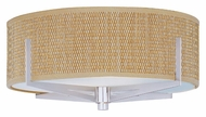 ET2 E95400-101SN Elements Contemporary Satin Nickel Grass Cloth Flush Mount Lighting