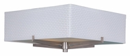 ET2 E95440-100SN Elements Small Fluorescent Satin Nickel White Weave Ceiling Lighting