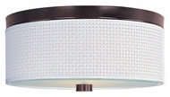 ET2 E95102-100OI Elements White Weave Oil Rubbed Bronze 14 Inch Diameter Flush Lighting - Medium