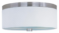 ET2 E95102-100SN Elements Contemporary Medium Satin Nickel White Weave Ceiling Light Fixture
