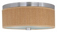 ET2 E95102-101SN Elements Satin Nickel Finish Medium Grass Cloth Ceiling Light - 14 Inch Diameter