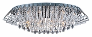ET2 E20404-20PC Zen Large Flush Mount Crystal 40 Inch Diameter Polished Chrome Ceiling Light Fixture