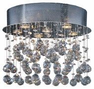 ET2 E20791-20 Cascada 18 Inch Diameter Hanging Crystal Halogen Small Flush Ceiling Light Fixture