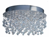 ET2 E20794-20 Cascada Large Halogen Polished Chrome Finish Crystal Overhead Lighting - 31 Inch Diameter