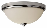 Feiss FM372PN Malibu Small Polished Nickel Finish 13 Inch Diameter Flush Mount Lighting