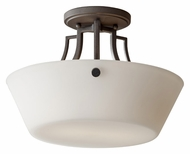 Feiss SF306CI Weston Semi Flush Mount Colonial Iron 13 Inch Diameter Overhead Lighting