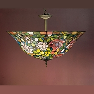 Meyda Tiffany 31123 Rosebush Semi Flush Mount 20 Inch Diameter Tiffany Ceiling Light Fixture