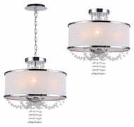 Crystorama 9804-CH Allure Convertible Crystal 14 Inch Diameter Polished Chrome Pendant & Ceiling Light