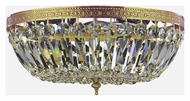 Crystorama 716-OB-CL-MWP Richmond Olde Brass Finish 16 Inch Wide Crystal Flush Lighting