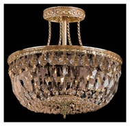 Crystorama 119-12-OB-GT-MWP Traditional Crystal Semi Flush Old Brass 12 Inch Diameter Ceiling Lighting Fixture