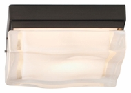 Tech Fluid Square Small 5 Inch Wide Contemporary Flush Mount Ceiling Lighting