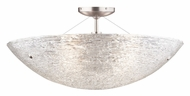 Tech Trace Semi Flush Mount Piped Glass Crystal 23 Inch Diameter Ceiling Light