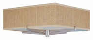 ET2 E95340-101SN Elements 16 Inch Wide Satin Nickel Finish Grass Cloth Ceiling Light