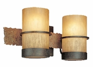 Troy B1842BB Bamboo 2 Light Wall / Vanity Fixture