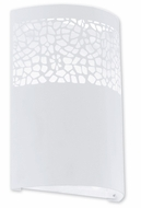 EGLO 91416A Carmelia 9 Inch Tall White Contemporary Wall Sconce Light Fixture