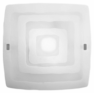 EGLO 86854A Aero I Matte Nickel Finish Transitional Striped Satin Glass 20 Inch Wide Ceiling Lighting