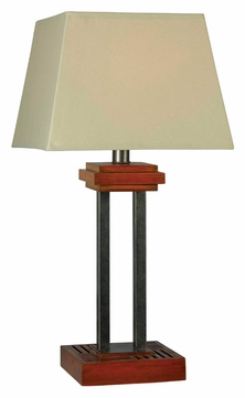 kenroy home 32195cygy hadley 32 inch tall cherry finish living room table lamp ken 32195cygy. Black Bedroom Furniture Sets. Home Design Ideas