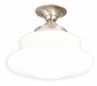 Hudson Valley 3412F-SN Petersburg Medium Transitional Satin Nickel Finish 12 Inch Diameter Semi Flush Lighting