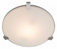 Access 50070-BS/WHT Luna�17 Inch Diameter Flush Mount Brushed Steel Ceiling Light Fixture