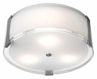 Access 50120-BS Tara�Brushed Steel Contemporary Flush Mount Ceiling Lighting - 14 Inch Diameter