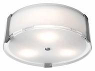 Access 50121-BS Tara�18 Inch Diameter Flush Mount Brushed Steel Overhead Lighting