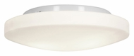 Access 50161-WH/OPL Orion�Transitional 13 Inch Diameter White Flush Mount Lighting