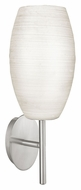 EGLO 88956A Batista I Hand Made White Glass 13 Inch Tall Wall Lighting Sconce