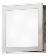 EGLO 82218A Eos Square Matte Nickel 15 Inch Wide Wall Lighting Fixture