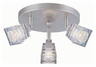 Lite Source LS17643PSCLR Avis 9 Inch Diameter Ceiling Flush Mount Lighting Spot Light - Polished Steel