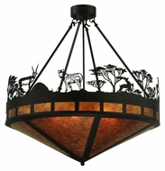 Meyda Tiffany 130870 Serengeti Semi Flush Mount 36 Inch Tall Rustic Ceiling Light Fixture