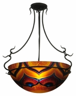 Meyda Tiffany 132291 Hand-Painted Custom Semi Flush Ceiling Lamp - 22 Inch Diameter