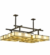 Meyda Tiffany 132418 Piazza Bronze Finish 68 Inch Wide Modern Ceiling Lighting Fixture